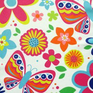 custom printed jasmine fabric